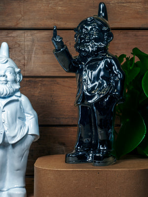 Gnome with Finger Black