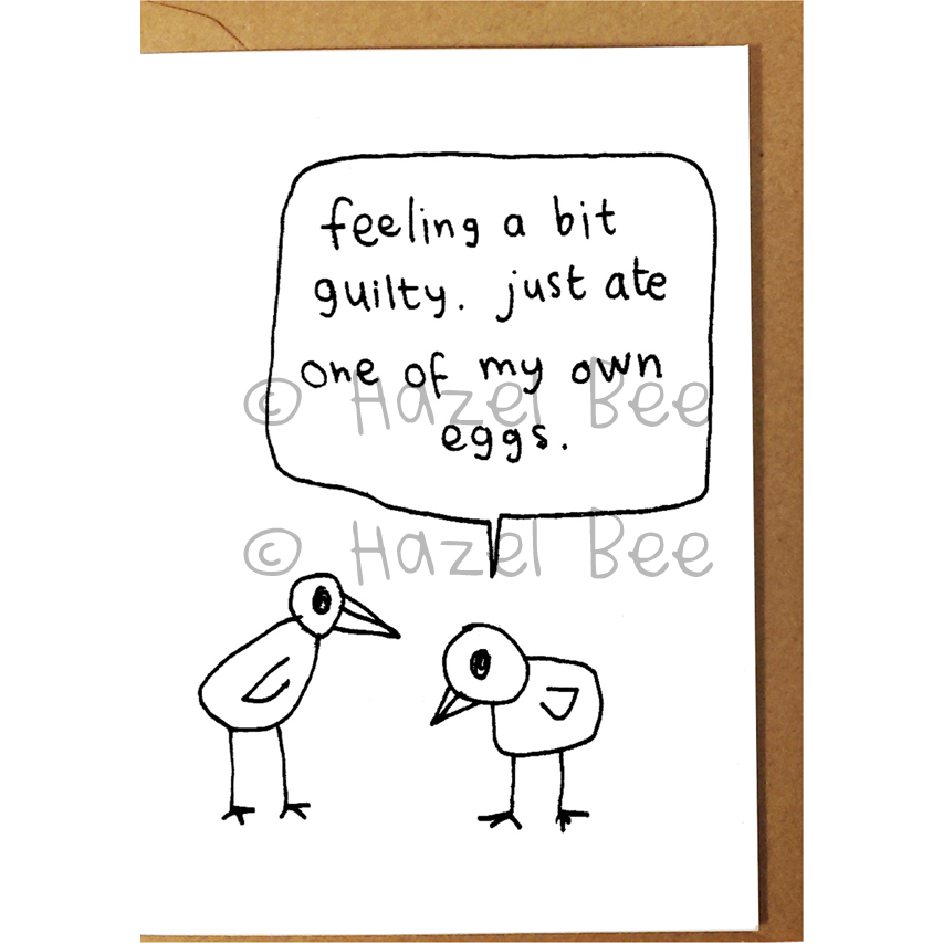 Ate Own Egg Card