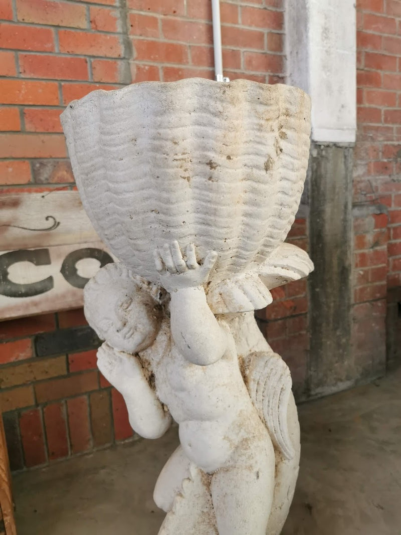 Vintage Garden Ornament - Water Feature with Fish