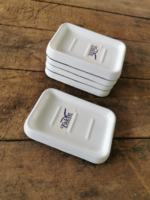 Falcon Enamel Soap Dish White/Black
