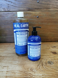 Dr Bronner Peppermint Liquid Soap 1L