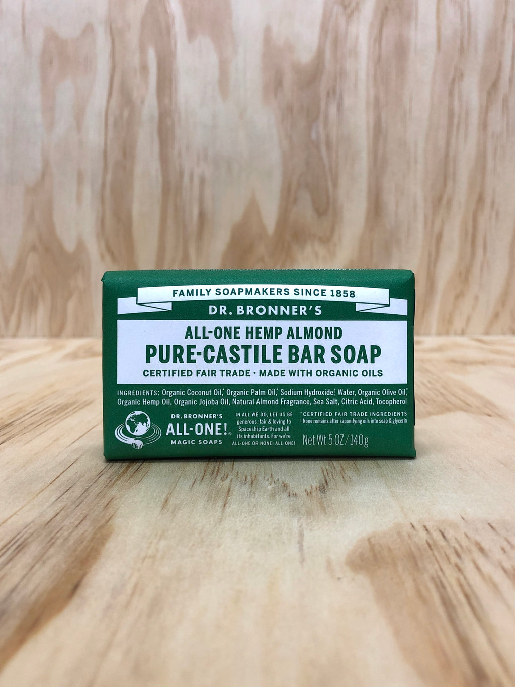 Dr Bronner's Organic Almond Bar Soap