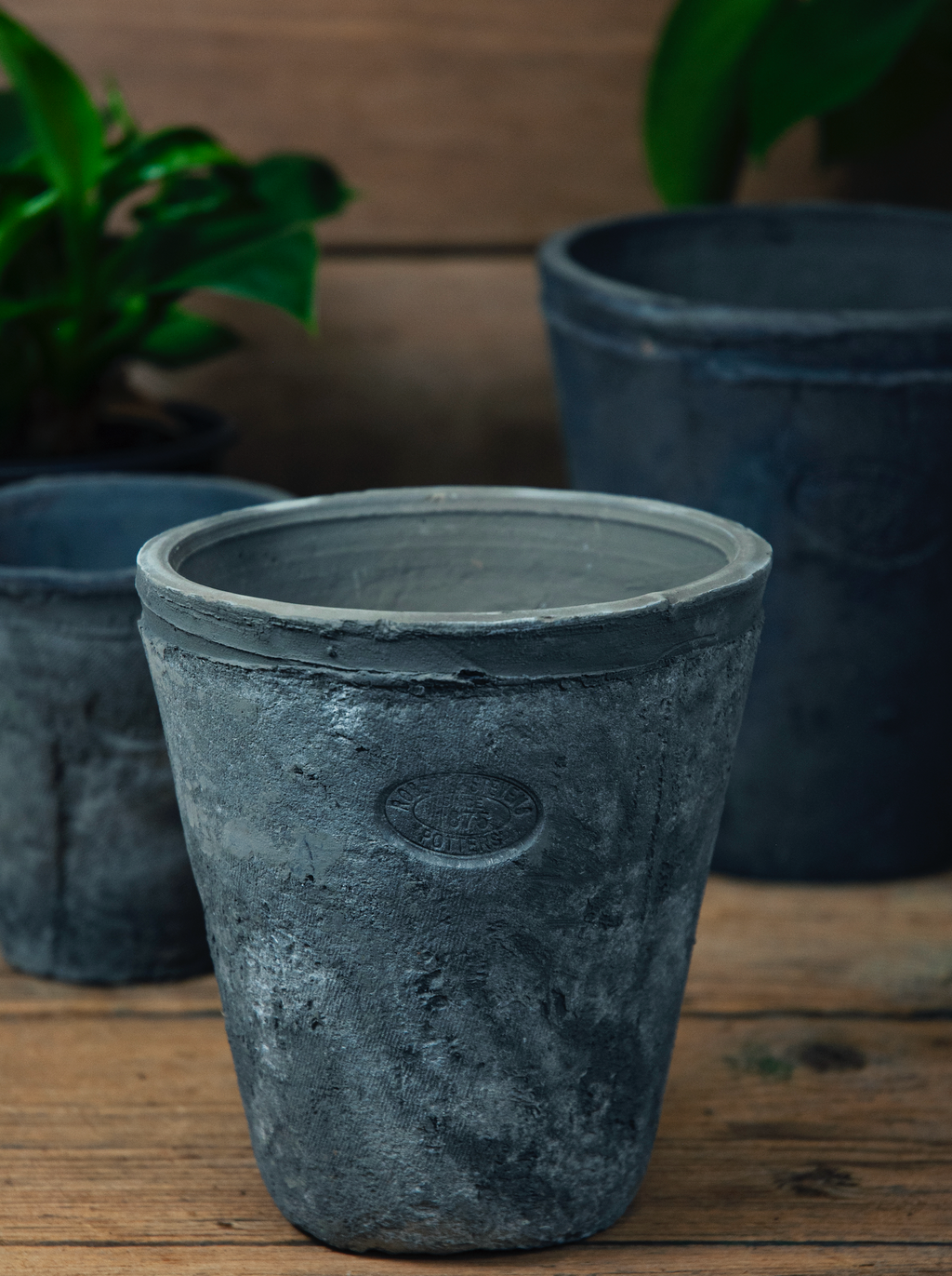 Grey Terracotta Pot - Medium