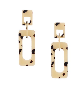 Earrings - Rectangle Cutout