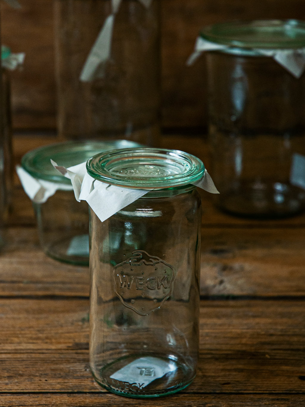Weck // Cylinder Jar with Glass Lid
