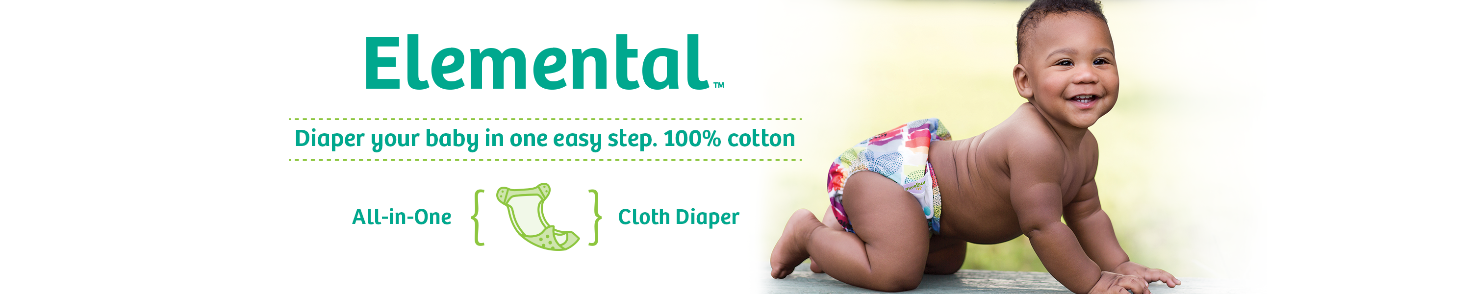 Image of Elemental! Diaper your body in one easy step. 100% cotton