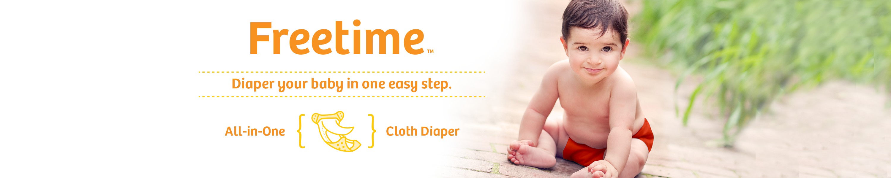 Image of Freetime! Diaper your baby in on easy step.