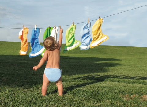 cloth diapers help prevent landfill waste