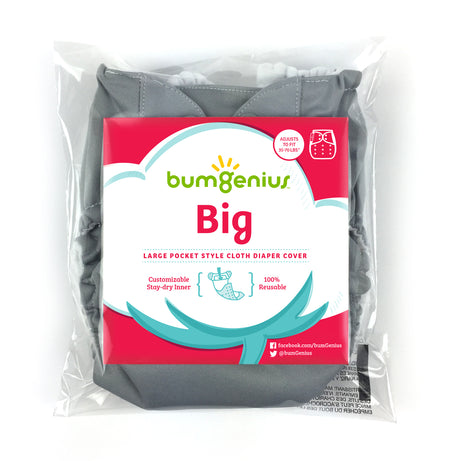 bumGenius Big™ - One-Size Pocket Cloth Diaper - fits 35-70 pounds