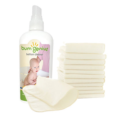 bumGenius Flannel Baby Wipes + Bottom Cleaner
