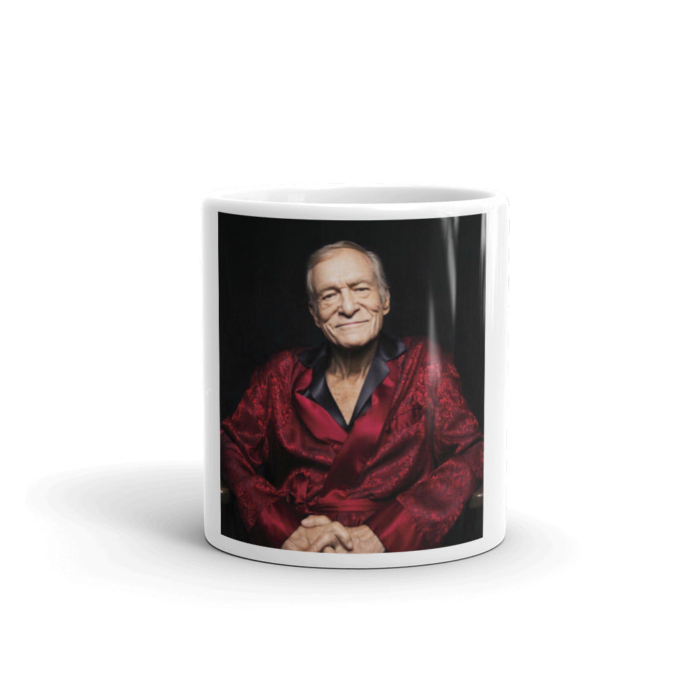 Hugh Hefner Mug - Chilling In Silk Robe
