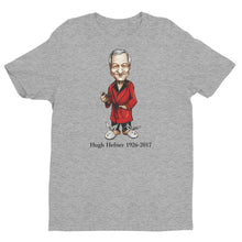 Hugh Hefner T-shirt - Chilling In A Silk Robe - Black Font