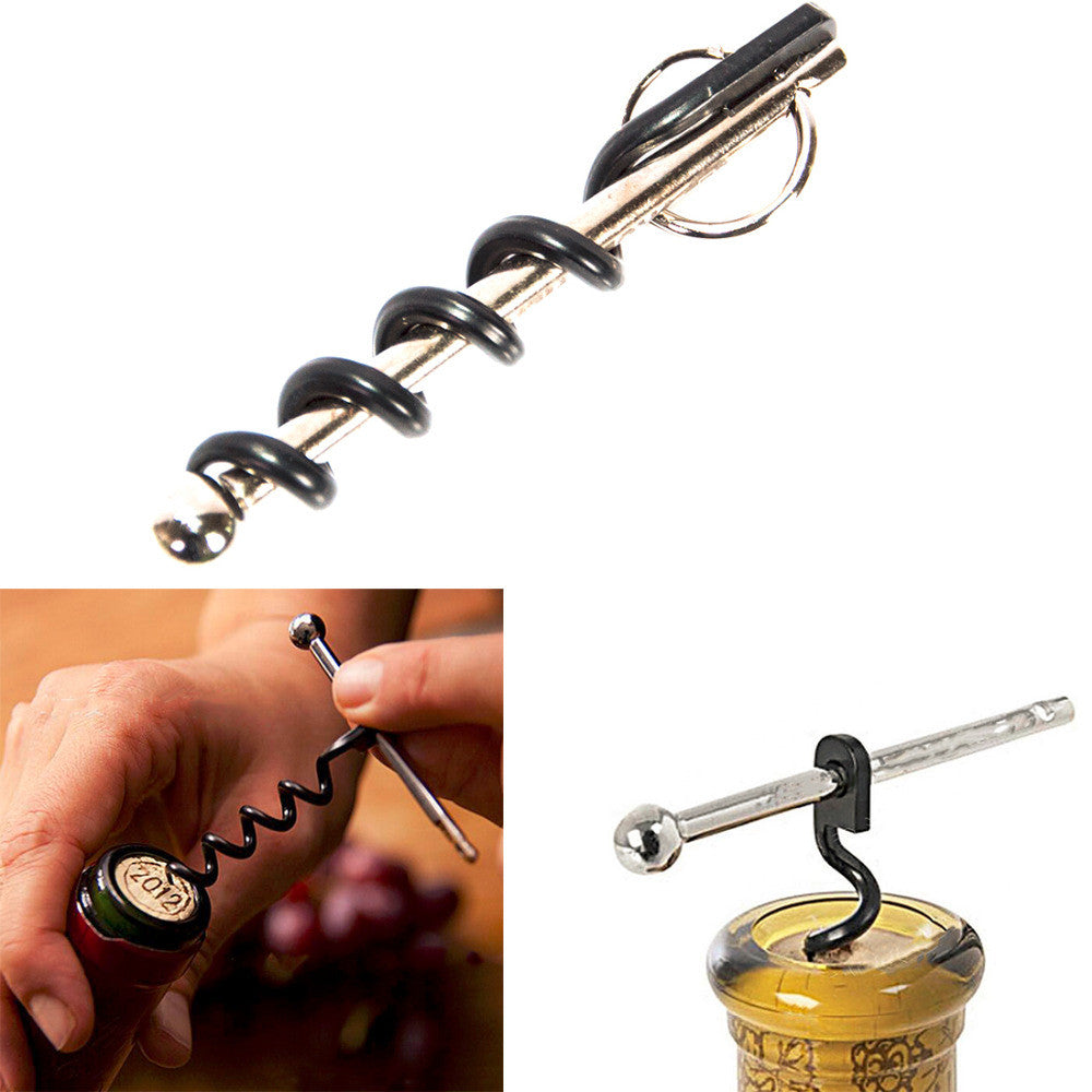 Multifunctional Mini Outdoor Stainless Steel Corkscrew