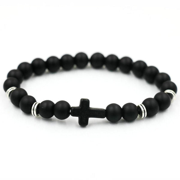 Unisex Cross Bead Bracelet