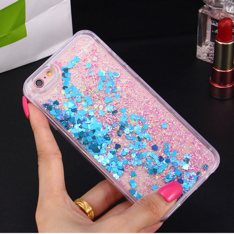 Dynamic Heart & Stars Glitter Iphone Clear Case