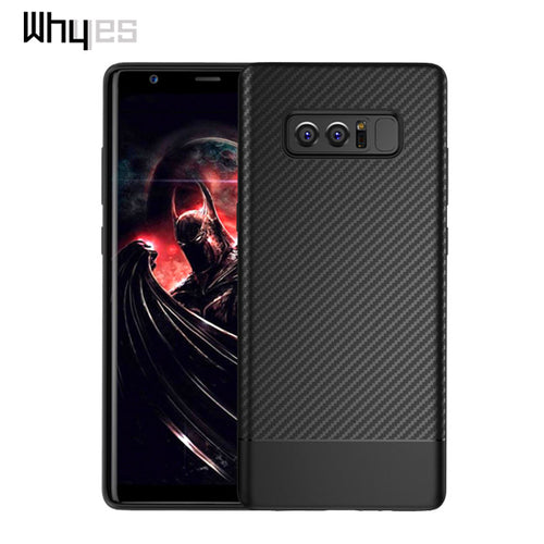 Whyes For Samsung Galaxy Note 8 Case Carbon Fiber