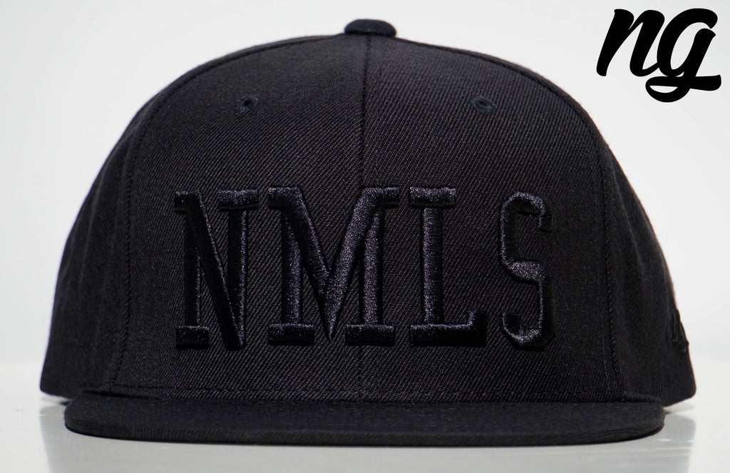 NMLS Logo Snapback Hat - Black Stitch