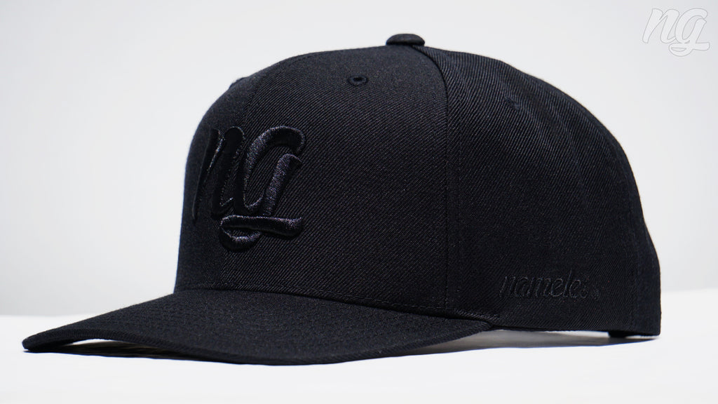 NG Logo Snapback Hat - Black Stitch