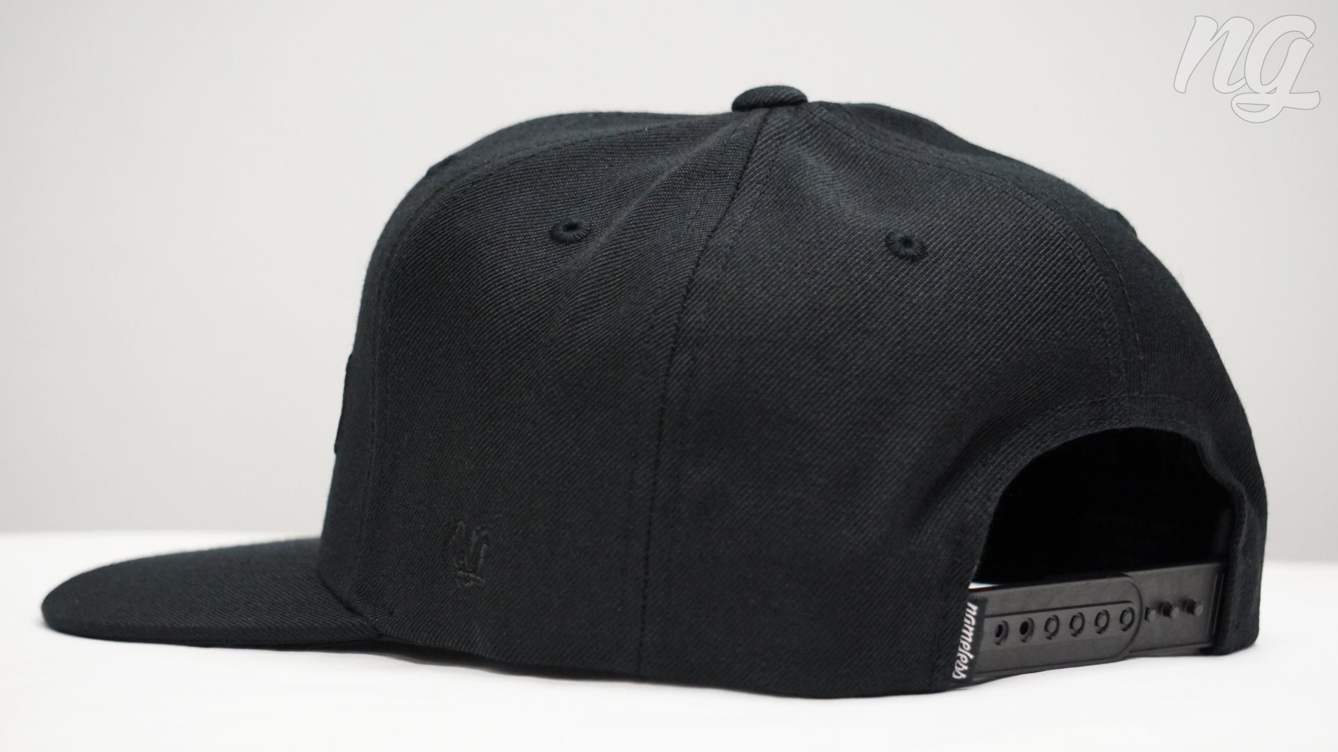 Nameless Logo Snapback Hat - Black Stitch