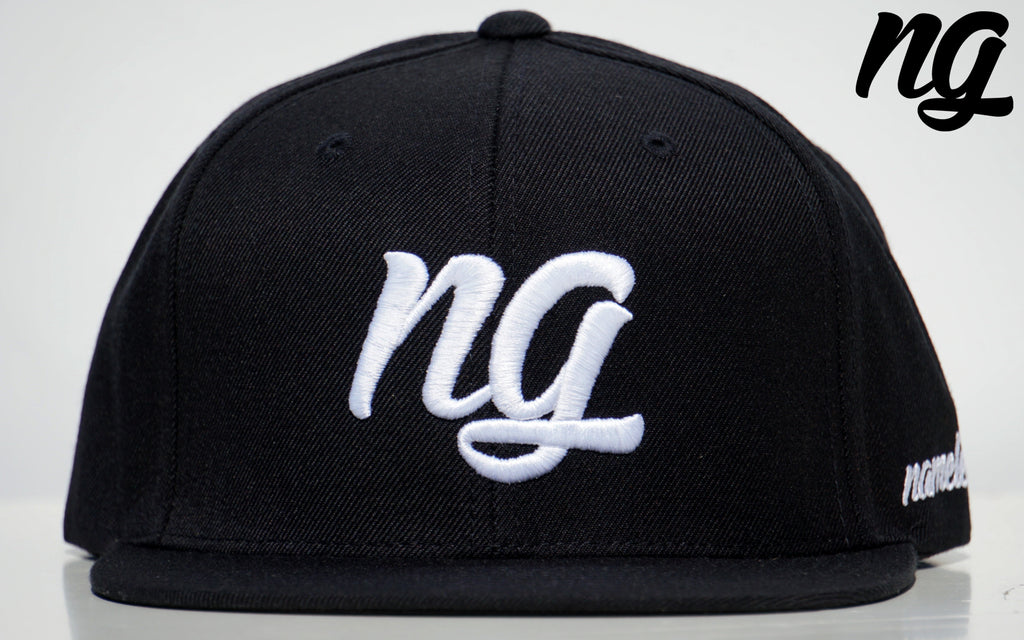 NG Logo Snapback Hat - White Stitch