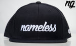 Nameless Logo Snapback Hat - White Stitch