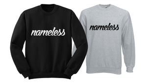 Nameless Crew Neck Fleece Sweatshirts
