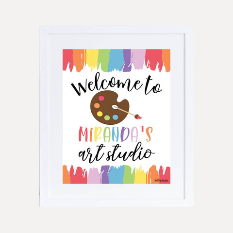 Art Kids Party Welcome Sign Printable Template