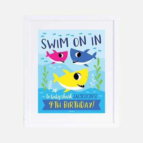 Baby Shark Kids Party Welcome Sign Printable Template
