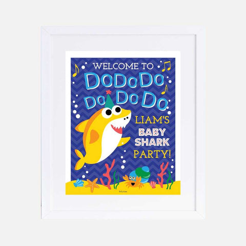 Baby Shark Do Do Kids Party Welcome Sign Printable Template