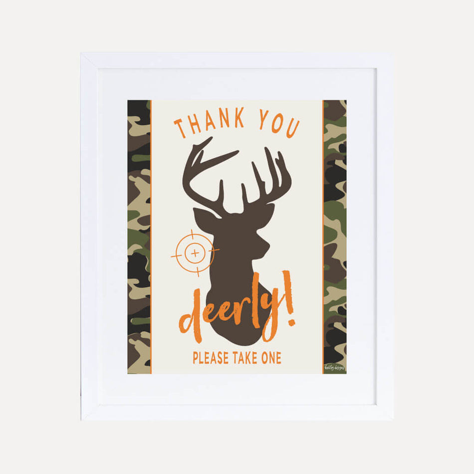 Hunting Party Signs Instant Download Hunting Birthday ...   Hunting Party Printables