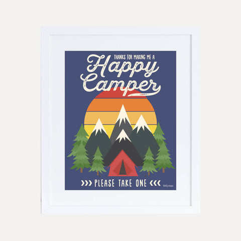 Camping Kids Party Favors Sign Printable Template