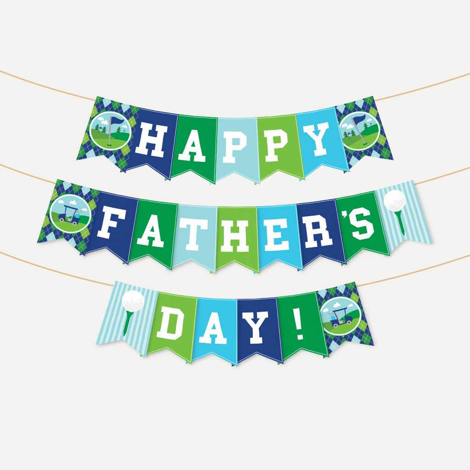Printable Father S Day Golf Banner Template Hadley Designs