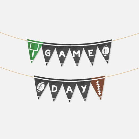 Field Football Kids Party Banner Printable Template