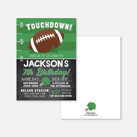 Field Football Kids Party Invitation Printable Template