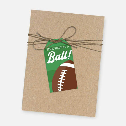 Field Football Kids Party Thank You Favor Tags Printable Template