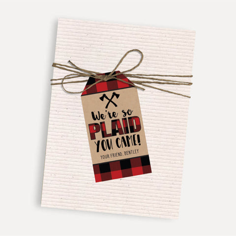 Lumberjack Kids Party Thank You Favor Tags Printable Template
