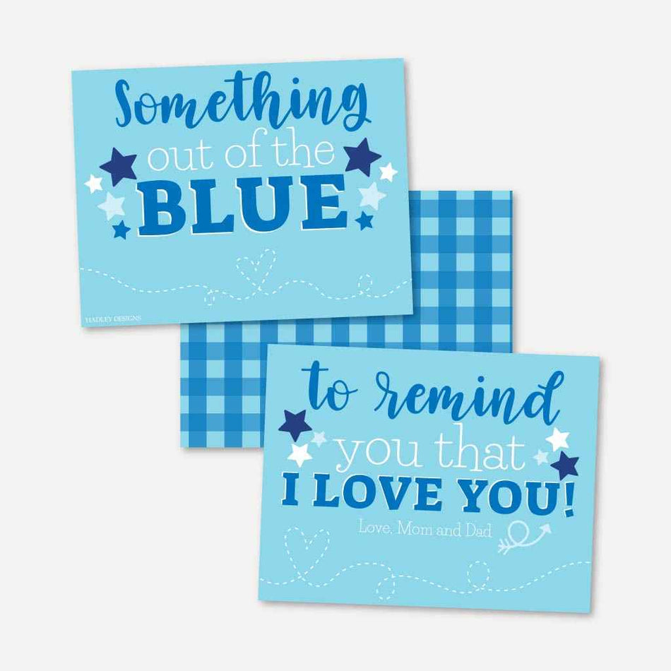 Printable Something Out Of The Blue Care Package Template Hadley Designs