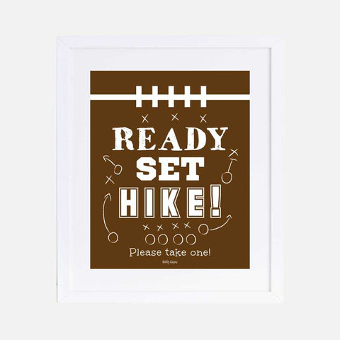 Vintage Football Kids Party Favors Sign Printable Template