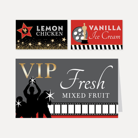 VIP Kids Party Food Tent Cards Printable Template