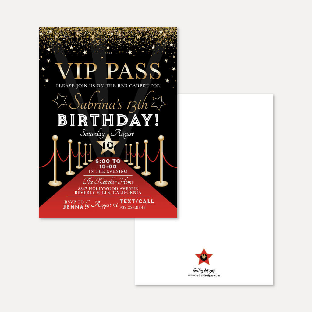 VIP Kids Party Complete Package Set Printable Template