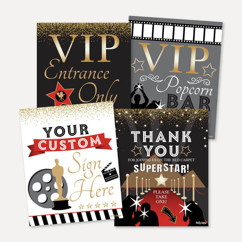 VIP Kids Party Sign Set Printable Template