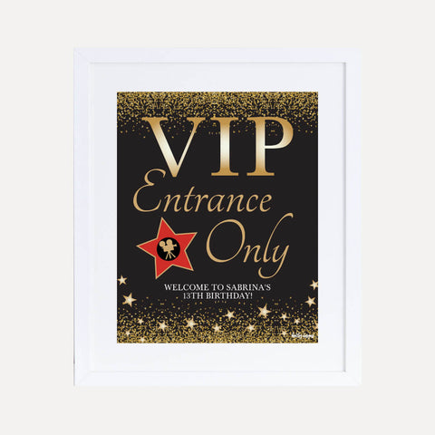 VIP Kids Party Welcome Sign Printable Template