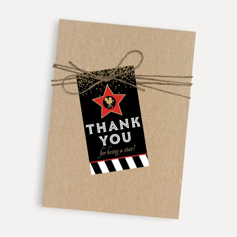 VIP Kids Party Thank You Favor Tags Printable Template