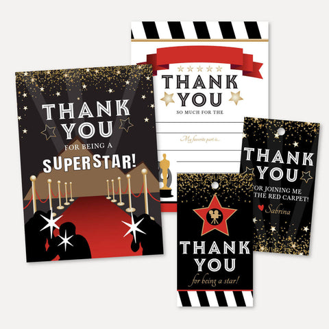 VIP Kids Party Thank You Package Set Printable Template