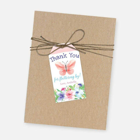 Butterfly Kids Party Thank You Favor Tags Printable Template