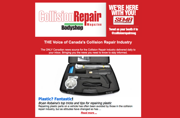 Robaina Direct / NitrogenWelder.com featured in Collision Repair Magazine