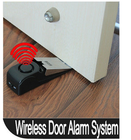 Door Stop Alarm Home Travel Wireless Security System - Portable Burglar Alert System