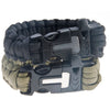 Image of 4 in 1 Survival Flint Fire starter, Paracord, Whistle Gear, Rescue Rope Bracelet