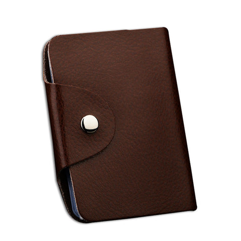 Genuine Leather Pocket Business ID and Credit Card Holder