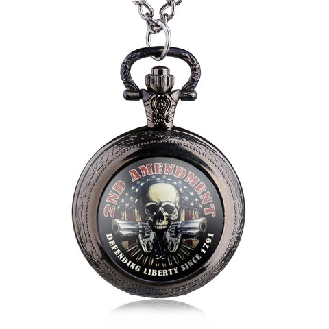 "2nd AMENDMENT ""Defending Liberty Since 1791"" Pocket Watch"